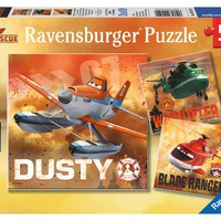 Disney Planes Fire & Rescue - Real Rescue Planes - (3 x 49) Piece Jigsaw Puzzles