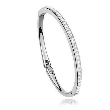 Kyle Bracelet 18K White Gold Plated