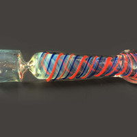 Red and Blue Stripe Chillum