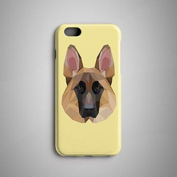 Geometric German Sheperd iPhone 7 Case iPhone 8