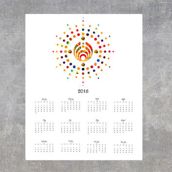 2016 Printable Bassnectar Calendar Instant Download, wall decor, year calendar digital print
