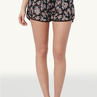 Rose Bouquet Piped Shorts