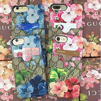 GUCCI Trending Classic Flower Tiger Print iPhone Phone Cover Case For iphone 6 6s 6splus 7 7plus iphone X Hard Shell + Best Gift I