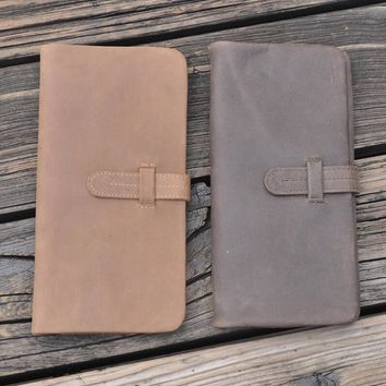 vintage handmade genuine leather long wallet gift 30 2