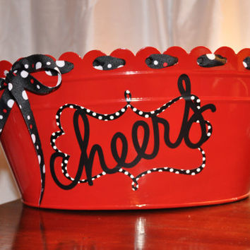 Beverage Tub/ Drink Tub/ Personalized/ Beverage Bucket/ Assorted Colors