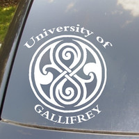 University of Gallifrey Car Sticker