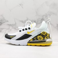 Nike Air Max 270 White Black Gold Floral Running Shoes - Best Deal Online