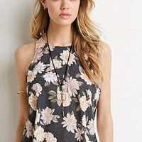 Faded Floral Print Tank