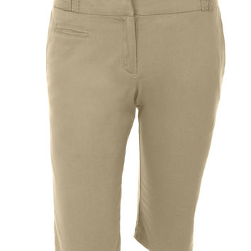 Stretchy Capri Cargo Bermuda Short Pants with Pockets (CLEARANCE)