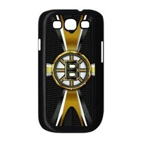 NHL Boston Bruins logo theme back cases for Samsung Galaxy S3 I9300