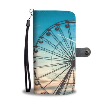 Ferris Wheel Sunset Phone Wallet Case