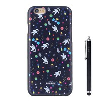 iPhone 6S Case, iPhone 6 Case H&T (TM) Unique 3d Embossed Painting Process Colorful Design Skin Soft Iphone 6/6S Protective Cover Case Slim Fit for Iphone 6/6S 4.7 with Free Stylus (Space)