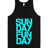 Sunday Funday Tank Top-Unisex Black Tank