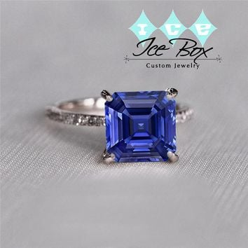 photos emerald pink brides cut ring engagement asscher sapphire