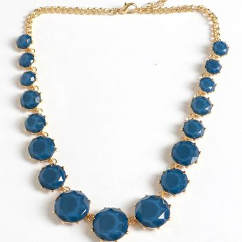 Set It Stone Necklace Blue