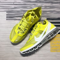 DCCK2 N1181 NIKE REACT ELEMENT 87-MAX 2019 Cicada Mesh Sports Running Shoes Yellow