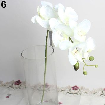 Creative Artificial Butterfly Orchid Flower 1 Piece Wedding Home Decor Fake Cloth Flower