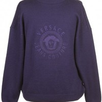 Versace Jumper Purple - Vintage clothing from Rokit - jumper