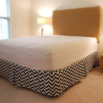Queen - Chevron Bed Skirt - Pick Your Color - Free Ship