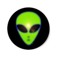 Green Alien Stickers from Zazzle.com