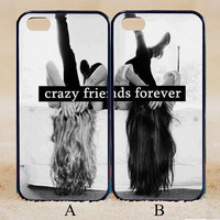 Best Friends,Crazy Friends Forever,Custom Case, iPhone 4/4s/5/5s/5C, Samsung Galaxy S2/S3/S4/S5/Note 2/3, Htc One S/M7/M8, Moto G/X