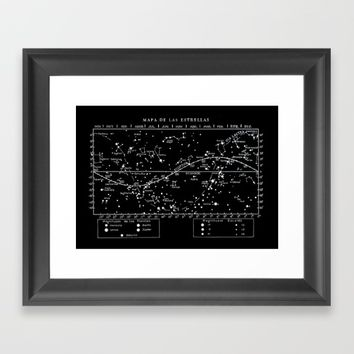 Star Map Constellations Framed Art Print by The Curators Prints