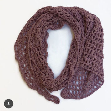Scarf spring summer women's fashion accessories knit crochet light scarves