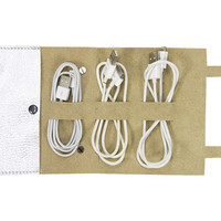 Leather Cordito Cord Wrap, Silver, Wallets