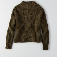 AEO MOCK NECK CROP SWEATER