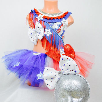 Independent day costume / America costume / 4th july / dancewear / performance / halloween