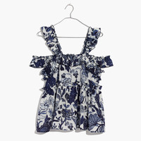 Karen Walker® Navarre Ruffled Top