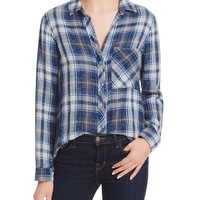 Bella DahlMulti-Stitch Button Down Plaid Shirt