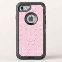 Pink Baby Carriage OtterBox Defender iPhone 8/7 Case