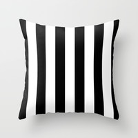 Stripe Black & White Vertical Throw Pillow by Beautiful Homes