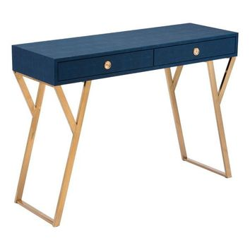 A11143 Asti Console Table Navy Blue