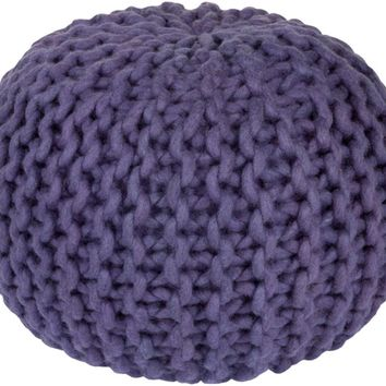 Stewart Knitted Pouf VIOLET