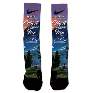 Custom Philippians 4:13 NIKE ELITE Socks
