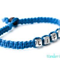 Lift Bracelet, Turquoise Hand Knotted Hemp Jewelry, Fitness Motivation, Weight Lifting, Goals