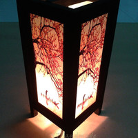 Table Lantern Light Wood frames & Mulberry paper For Home decorate, Night light, Christmas gift #Lantern NT03