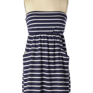 That's My Line Dress in Navy - $18.98 : Shop Cute Dresses and Clothing - Canada