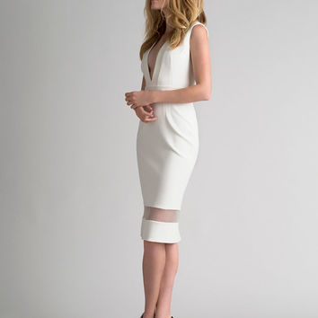 Nicholas EXCLUSIVE V Band Dress at INTERMIX | Shop Now | Shop IntermixOnline.com