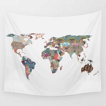 Wall Tapestries Art World Map decoration tapestry