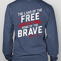 Rowdy Gentleman Land of the Free Tee - Navy