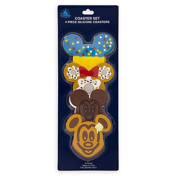Disney Parks Mickey and Friends Food Icons Coaster Set New with Card