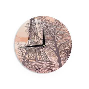 "Sam Posnick ""Eiffel Tower"" Wall Clock"