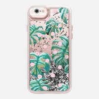 Casetify iPhone 6s Liquid Glitter Case - Pure Oasis in Polka by Dash and Ash by Ashley Sta Teresa
