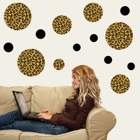 Leopard Print Dot Wall Decals