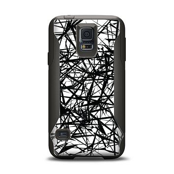 The Black and White Shards Samsung Galaxy S5 Otterbox Commuter Case Skin Set