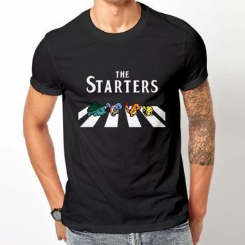 The starter  t shirt  men & women Pikachu Charmander Road to Abey Gift casual printed tee USA plus size XS-3xlKawaii Pokemon go  AT_89_9