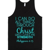 strength-Unisex Black Tank